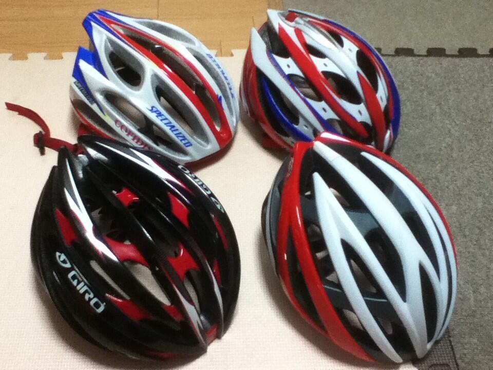 自転車の かっこいい自転車ヘルメット : ローテーションでかぶります ...