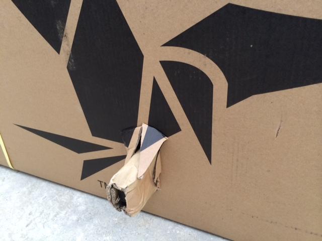 折りたたみ自転車が届いた(^^)